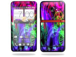 Skin Decal cover for HTC Evo 4G LTE Sprint Sticker stickerNeon Splatter