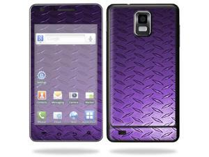 Skin Decal Wrap for Samsung Infuse 4G Cell Phone sticker Purple Dia Plate