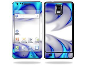 Skin Decal Wrap for Samsung Infuse 4G Cell Phone sticker Blue Fire