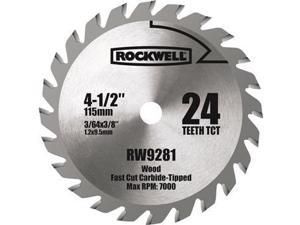 4 1/2-Inch 24T Carbide Tipped Compact Circular Saw Blade - Rockwell RW9281