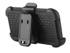 ULAK Heavy Duty Rugged Hybrid Rubber Shockproof Hard Case for Samsung Galaxy S6 with Belt Clip Holster Kickstand (Full Black)