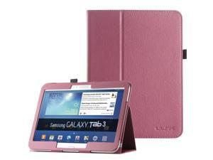 """ULAK Galaxy Tab 3 10.1 Case Synthetic Leather Case stand with Stylus Holder for Samsung Galaxy Tab 3 10.1 (10.1"""" inch) 2013 Release Rose Red"""