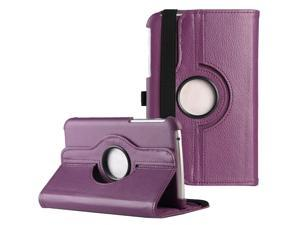 ULAK Case for Samsung Galaxy Tab 3 7.0 inch P3200 360 Rotating Synthetic Leather Stand Cover (Rotating-Navy Purple)