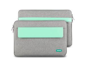 ULAK MacBook 12-inch Case,Macbook Pro 13-inch Case, MacBook Air 11.6-inch Case,Soft Sleeve Case Cover for Apple MacBook 12-inch & MacBook Pro 13-inch & MacBook Air 11.6-inch Laptop (Grey+Mint Green)