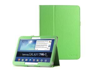 """ULAK Galaxy Tab 3 10.1 Case Synthetic Leather Case stand with Stylus Holder for Samsung Galaxy Tab 3 10.1 (10.1"""" inch) 2013 Release Green"""
