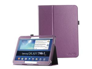 """ULAK Galaxy Tab 3 10.1 Case Synthetic Leather Case stand with Stylus Holder for Samsung Galaxy Tab 3 10.1 (10.1"""" inch) 2013 Release Navy Purple"""
