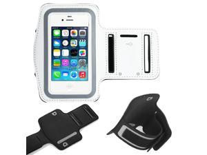 ULAK Adjustable Sports Armband Case, Cover Phone Sport Band Holder for Apple iPhone 5 iPhone 5S iPhone 5C iPod Touch 5 iPot Touch 6 (White)
