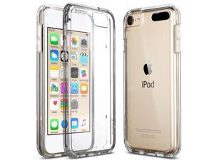 iPod Touch 6 Case, iPod Touch 5 Case,ULAK [CLEAR SLIM] Hybrid Premium Clear Bumper TPU/Scratch Resistant Hard PC Back Cover/Corner Shock Absorption Case for Apple iPod Touch 5 6th Gen (Clear)