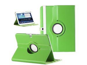 ULAK 360 Degree Rotating Folio Smart PU Leather Cover Case - Slim Lightweight Stand Cover with Auto Sleep/Wake Feature for Samsung Galaxy Tab 3 10.1 P5200 (2013 Released)(Rotating-Green)