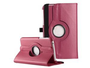 ULAK Case for Samsung Galaxy Tab 3 7.0 inch P3200 360 Rotating Synthetic Leather Stand Cover (Rotating-Rose Red)