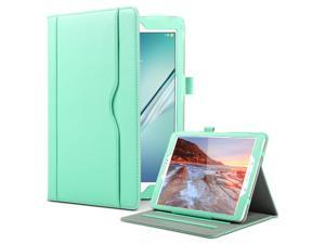 ULAK Samsung Galaxy Tab S2 9.7 Case Synthetic Leather Stand Folio Case Cover auto Sleep/Wake Design Card Pocket with Hand Strap for 2015 Galaxy Tab S2 Tablet (9.7 inch, SM-T810 T815) - Mint Green