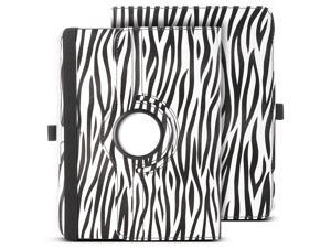 ULAK 360 Rotating Synthetic Leather Smart Case Stand Cover For Samsung Galaxy Tab 3 10.1 inch P5200 With AUTO Sleep/Wake Function (Black Zebra)