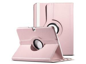 ULAK 360 Degree Rotating Folio Smart PU Leather Cover Case - Slim Lightweight Stand Cover with Auto Sleep/Wake Feature for Samsung Galaxy Tab 3 10.1 P5200 (2013 Released) (Rotating-Pink)