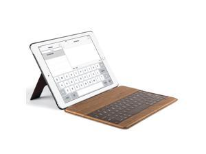 ULAK  Ultra-Slim Wood Pattern Stand Smart Cover with Built-in Wireless Bluetooth Keyboard Cases for Apple iPad Air 2 9.7 in. Auto Sleep / Wake Feature