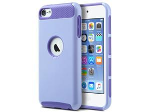 iPod Touch 6 Case,iPod Touch 5 Case,ULAK [Colorful Series] Slim Fit Protective iPod Touch Case 2-Piece Style Hybrid Hard Case Cover for Apple iPod touch 5 6th Generation ,Purple