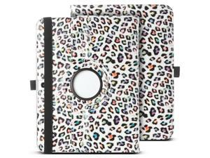 ULAK 360 Rotating Synthetic Leather Smart Case Stand Cover For Samsung Galaxy Tab 3 10.1 inch P5200 With AUTO Sleep/Wake Function (Colorful Leopard)