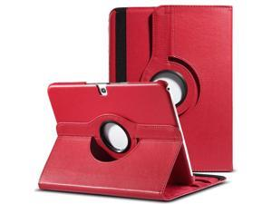 ULAK 360 Degree Rotating Folio Smart PU Leather Cover Case - Slim Lightweight Stand Cover with Auto Sleep/Wake Feature for Samsung Galaxy Tab 3 10.1 P5200 (2013 Released) (Rotating-Red)