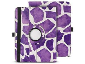 ULAK 360 Rotating Synthetic Leather Smart Case Stand Cover For Samsung Galaxy Tab 3 10.1 inch P5200 With AUTO Sleep/Wake Function - Giraffe Purple