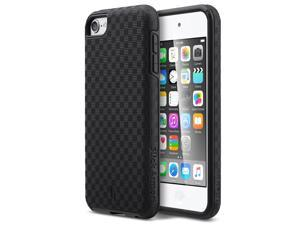 iPod Touch 6 Case,iPod Touch 5 Case,ULAK  Slim-Protection SLICK ARMOR Hybrid Dual Layer Shockproof Hard Case Cover for Apple iPod Touch 6 5th Generation (Black)
