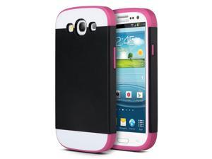ULAK Galaxy S3 Case, Hybrid TPU 2PC Layered Hard Case Rubber Bumper Cover for Samsung Galaxy S3 SIII i9300 Black