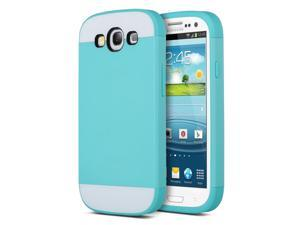 ULAK Galaxy S3 Case, Hybrid TPU 2PC Layered Hard Case Rubber Bumper Cover for Samsung Galaxy S3 SIII i9300 Blue