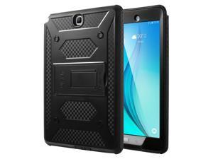 ULAK Samsung Galaxy Tab A 9.7 SM-T550 SM-P550 Case [KNOX ARMOR] Rugged Dual Layer Hybrid Protective Case Built with Kickstand for Samsung Galaxy Tab A 9.7 inch - (Black)