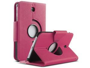 ULAK Case for Samsung Galaxy Tab 3 7.0 inch P3200 360 Rotating Synthetic Leather Stand Cover (Rotating1-Rose Red+White)