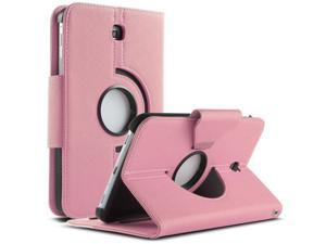 ULAK Case for Samsung Galaxy Tab 3 7.0 inch P3200 360 Rotating Synthetic Leather Stand Cover (Rotating1-Pink+White)