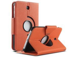 ULAK Case for Samsung Galaxy Tab 3 7.0 inch P3200 360 Rotating Synthetic Leather Stand Cover (Rotating1-Orange+White)