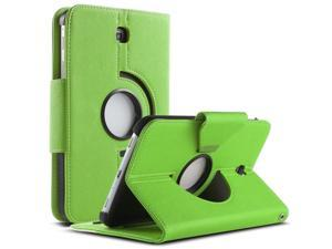 ULAK Case for Samsung Galaxy Tab 3 7.0 inch P3200 360 Rotating Synthetic Leather Stand Cover (Rotating1-Green+White)