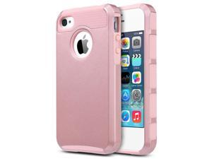 iPhone 4 Case, iPhone 4S Case ,4S Case,ULAK [ Colorful Series ] Dual Layer Hybrid Slim Hard Case with Hard PC Cover and Soft Inner TPU for iPhone 4S 4 (Rose Gold)
