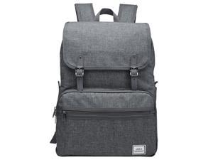 ULAK Casual Lightweight College Backpack Fits 15-inch Laptop Bag School Travel Daypack Gray