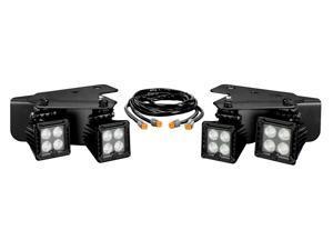 KC HiLites 340 Ford Raptor LED Bumper Light System&#59; Driving Light&#59; 3 in. Square&#59; White&#59; Black