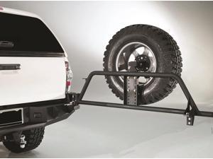 Fab Fours TT-Y1351T-1 Spare Tire Carrier&#59; 2 Stage Black Powder Coated&#59;