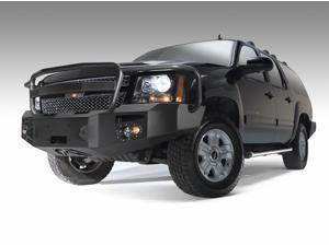 Fab Fours CS07-H2240-1 Heavy Duty Winch Bumper&#59; 2 Stage Black Powder Coated&#59; Front&#59; w/Full Grill