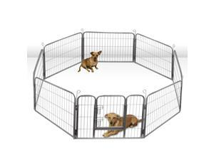 "OxGord Heavy Duty Metal Tube Exercise Pet Playpen, 32"" Height"