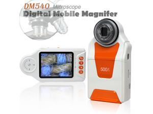 """Indigi Digital Learning & Education Magnifier Microscope - 10x-500x Magnification 4x LED Light 2.7"""" Color LCD"""