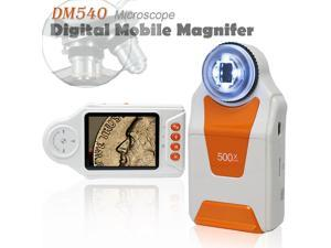 Indigi® Digital Handheld Magnifier Microscope 500x ZOOM Camera & Camcorder Mode