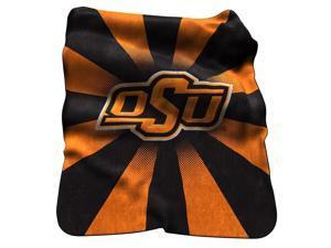Oklahoma State University Throw Raschel Sunburst Blanket