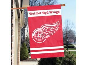 Party Animal AFRED Oversized 44 in. x 28 in. True 2 - Sided House Banner Flag - Detroit Red Wings