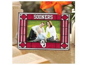 Oklahoma Sooners Art-Glass Horizontal Picture Frame