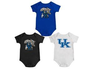 Kentucky Wildcats UK Onesie Creepers 3 Pack Set