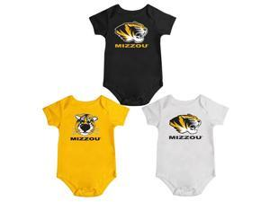 Missouri Tigers Mizzou Onesie Creepers 3 Pack Set