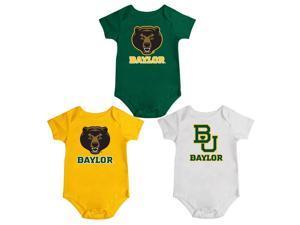 Baylor University Bears Onesie Creepers 3 Pack Set