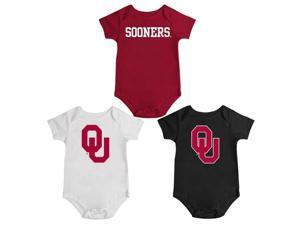 University of Oklahoma Sooners Onesie Creepers 3 Pack Set