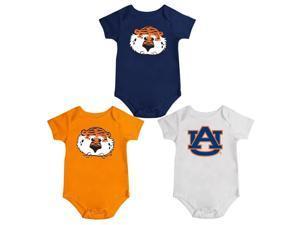 Auburn University Tigers Onesie Creepers 3 Pack Set