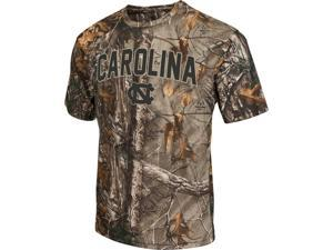 Men's Brown Tine Realtree Camo North Carolina Tarheels UNC T-Shirt