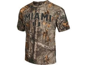 Men's Brown Tine Realtree Camo University of Miami Hurricanes T-Shirt