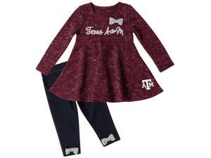 Texas A&M Aggies Long Sleeve Dress and Leggings Infant Set