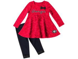 Georgia Bulldogs UGA Long Sleeve Dress and Leggings Infant Set